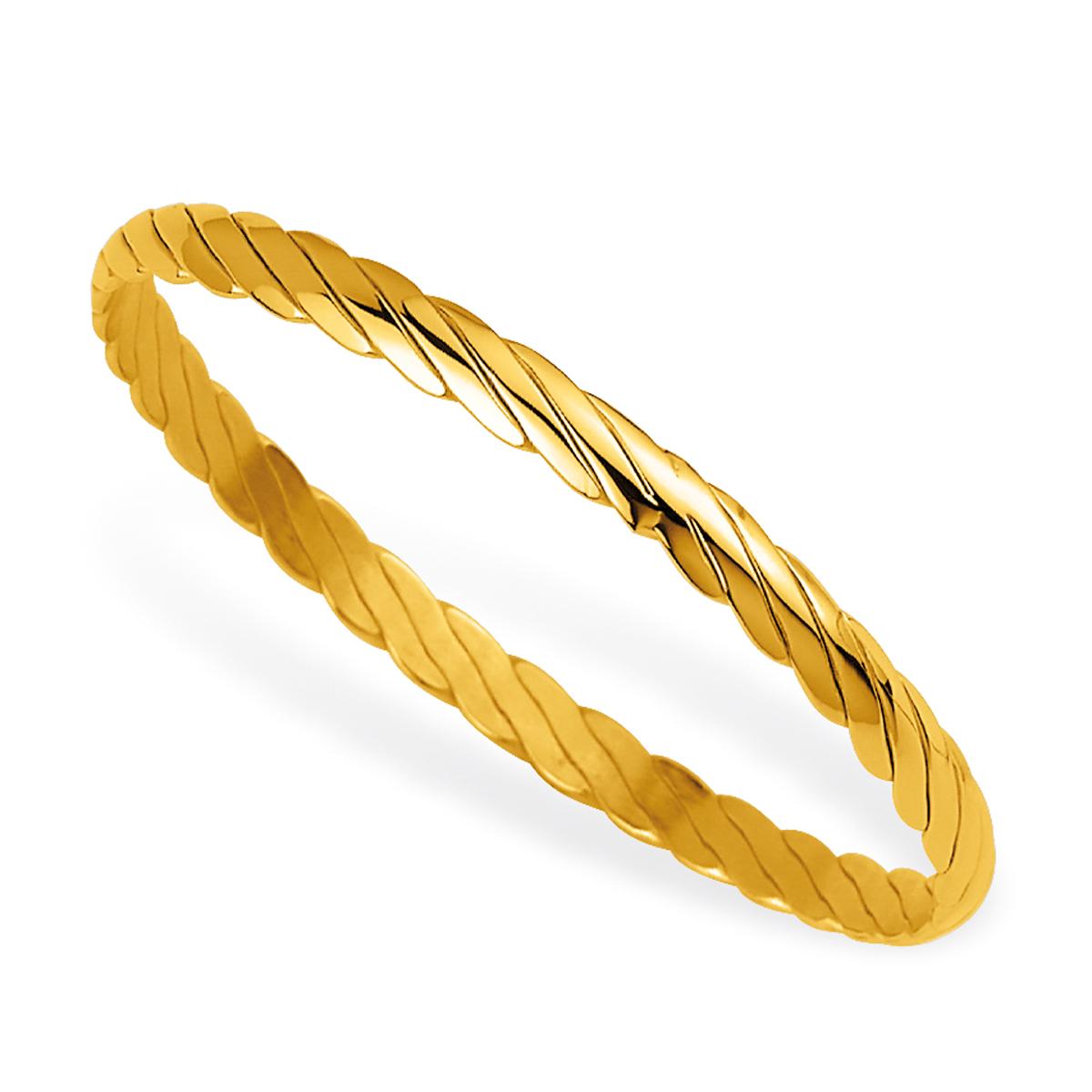 Bracelet plaqué or \'Chorégraphie\' doré - 62 mm 5 mm - [F6963]