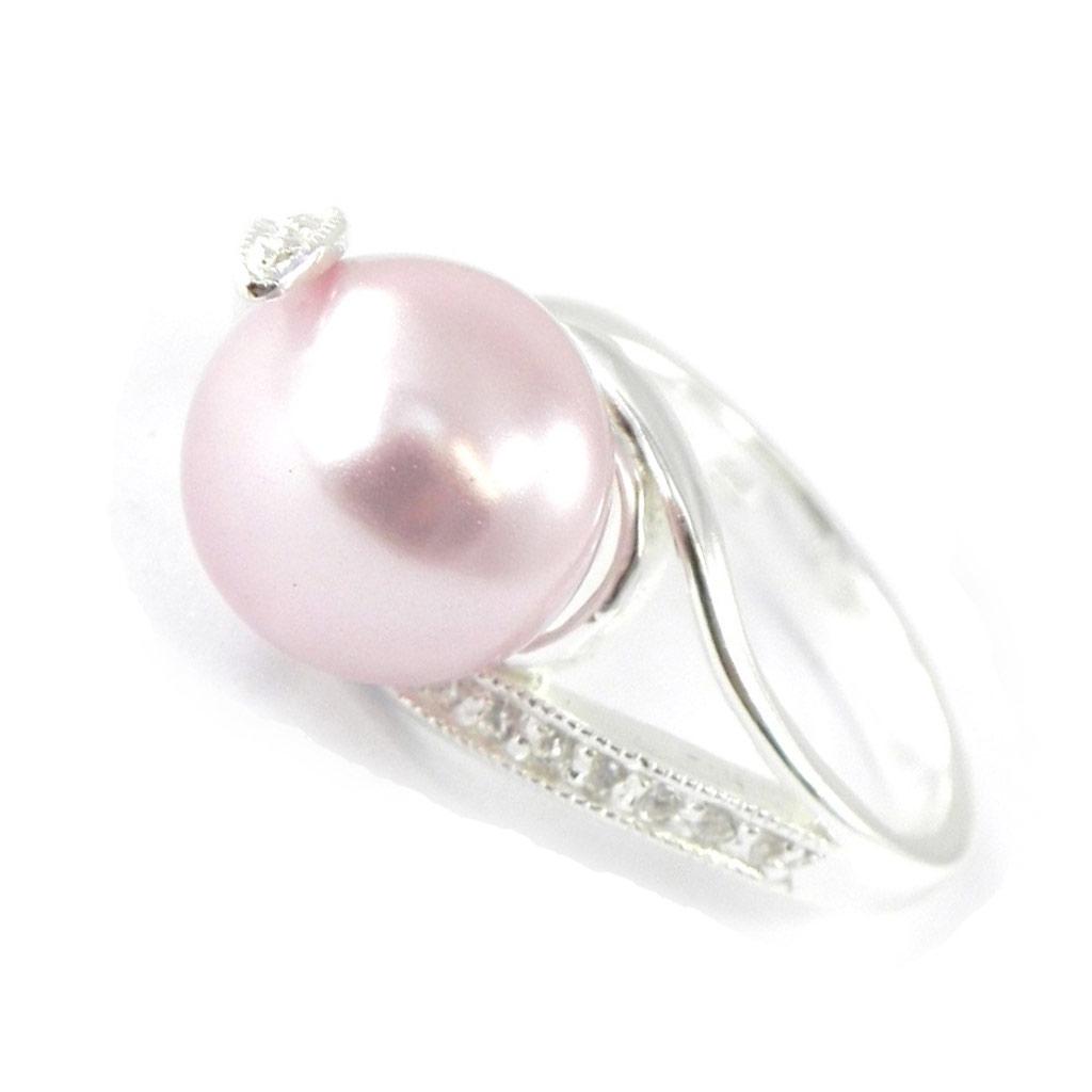Bague Argent \'Pearl Beauty\' lavande - [G1815]