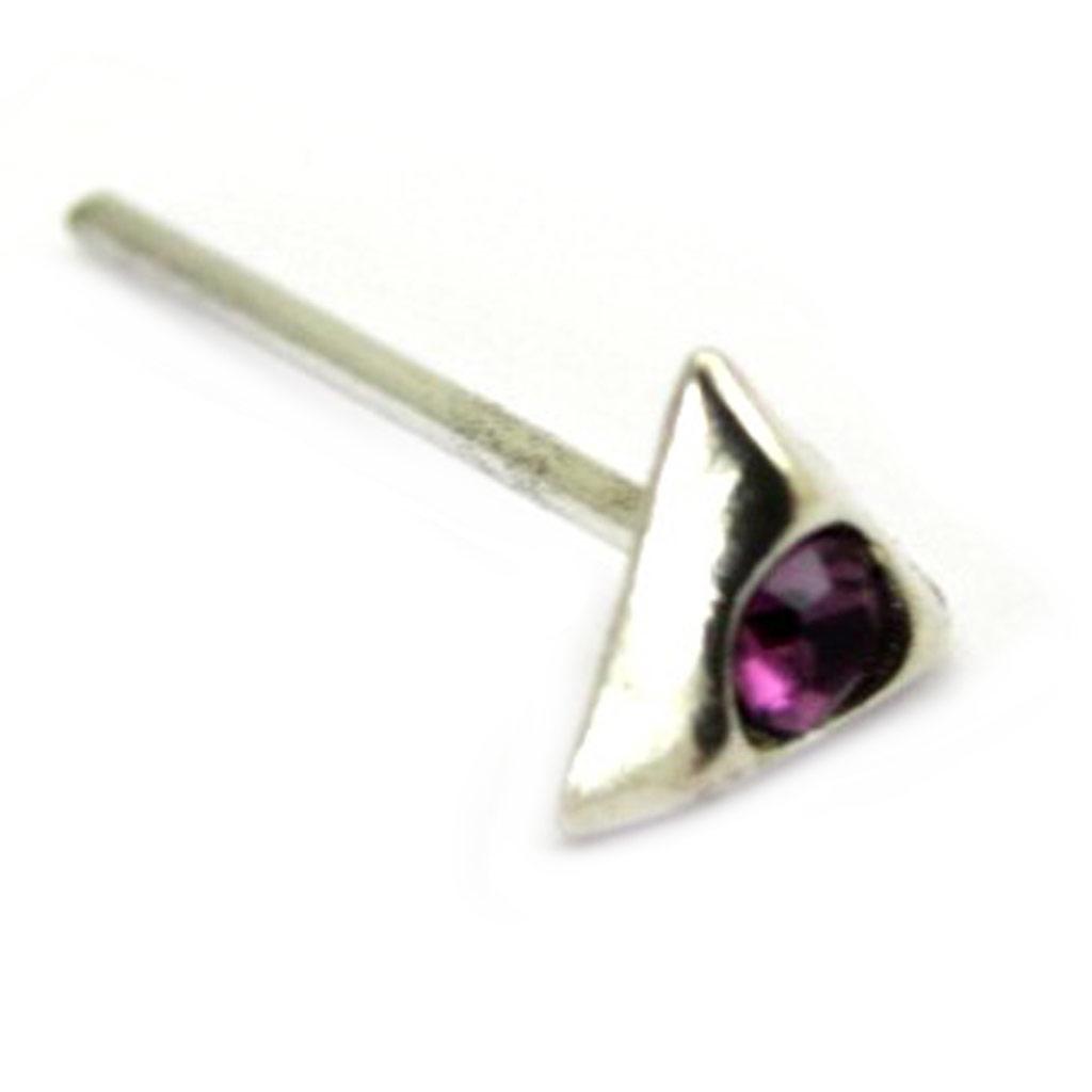 Stud Argent \'Cristal\' violet - [G2126]