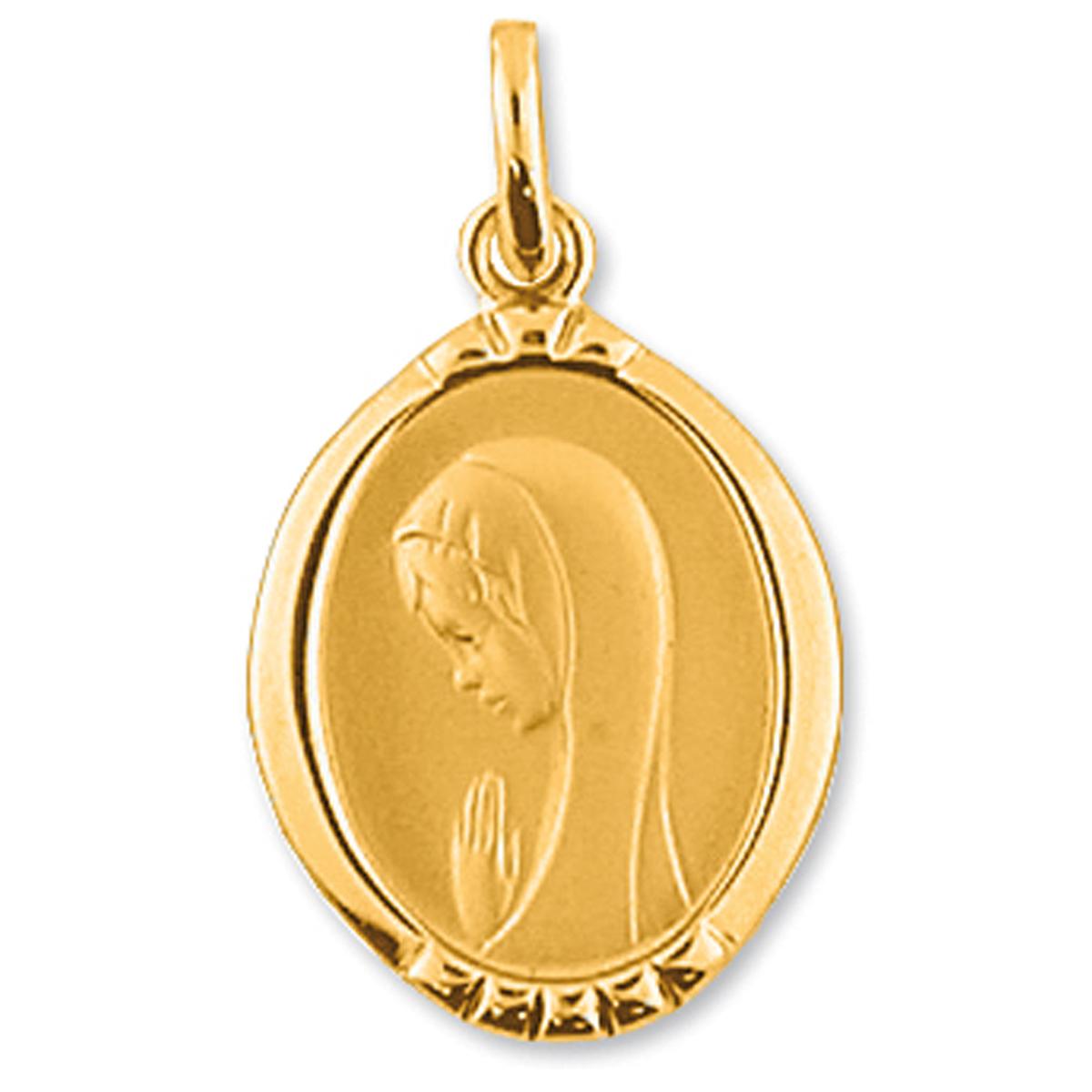 Pendentif Plaqué Or \'Vierge Marie\' Doré - [G2351]