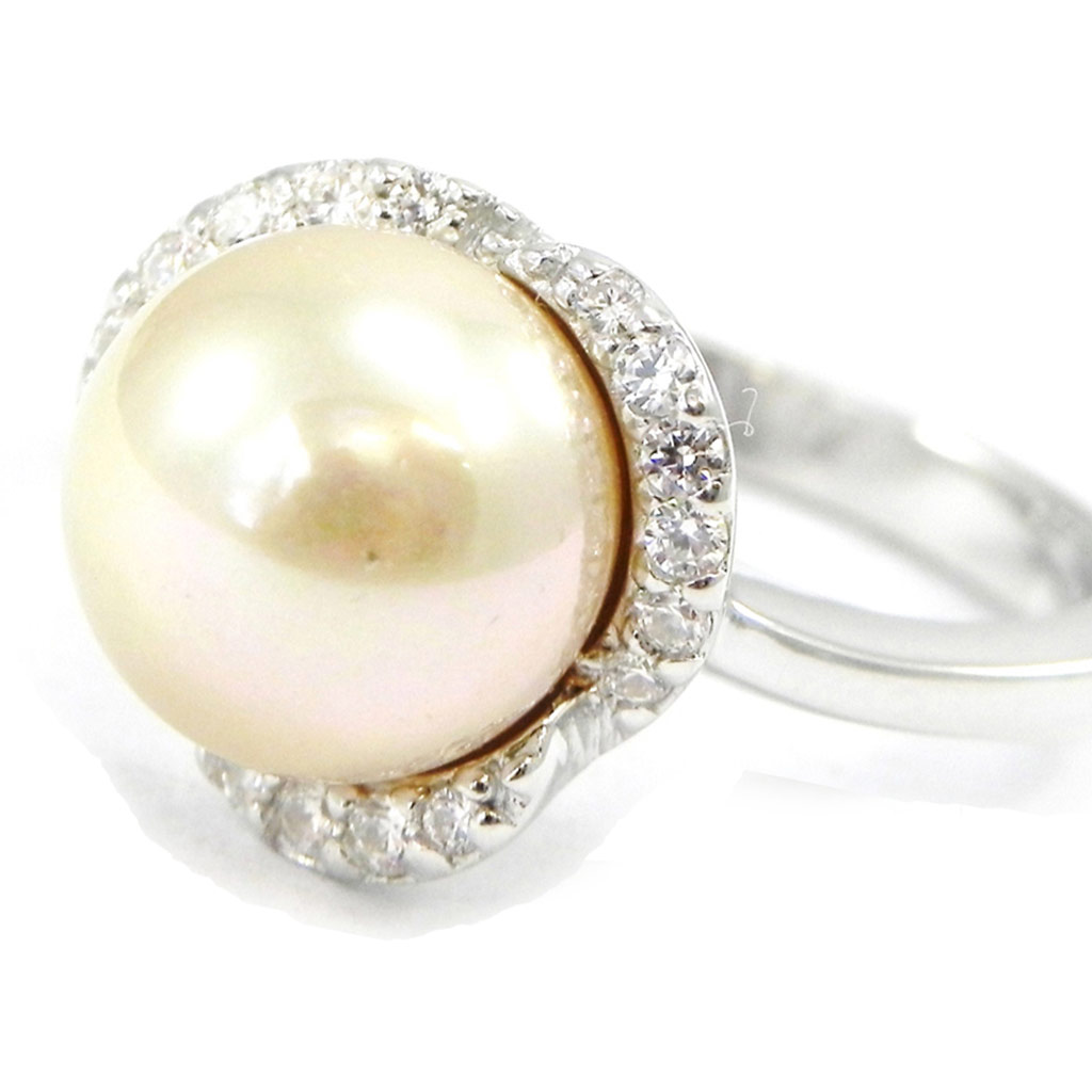 Bague \'Pearl Beauty\' blanc  - [I3246]