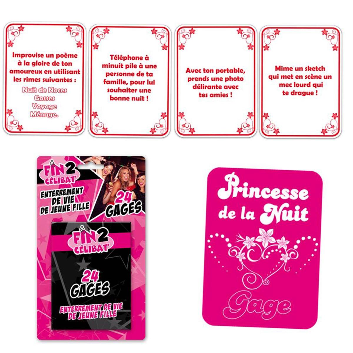 24 cartes gages \'Enterrement de vie de Jeune fille\' team EVJF - [J9668]