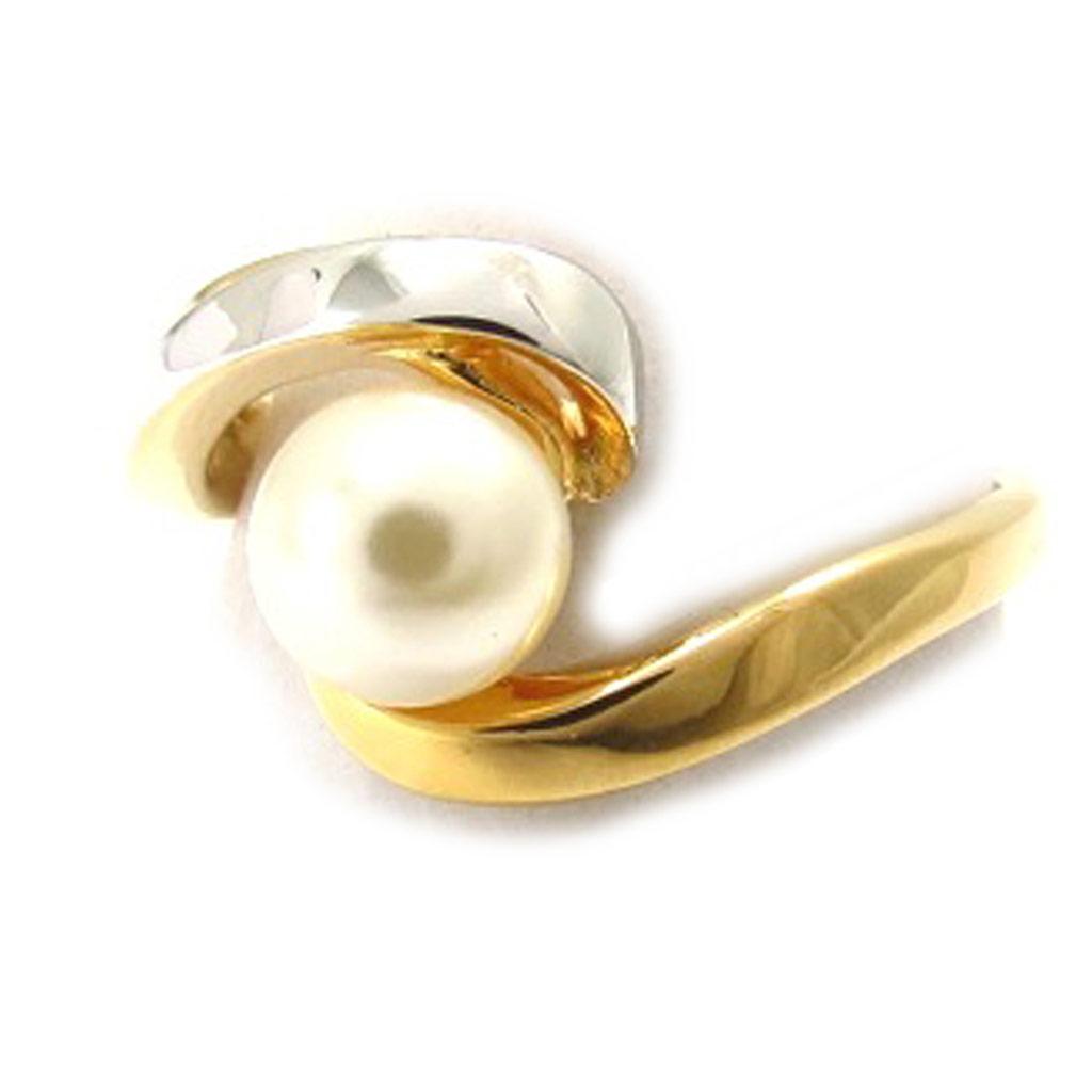 Bague \'Pearl Beauty\' ivoire doré - [K4661]