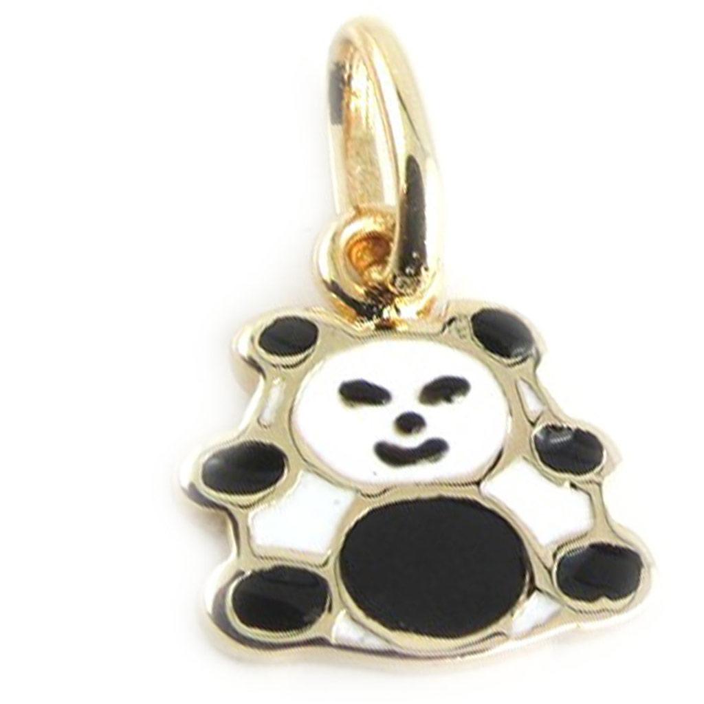 Pendentif \'Panda\' noir blanc - [L0055]