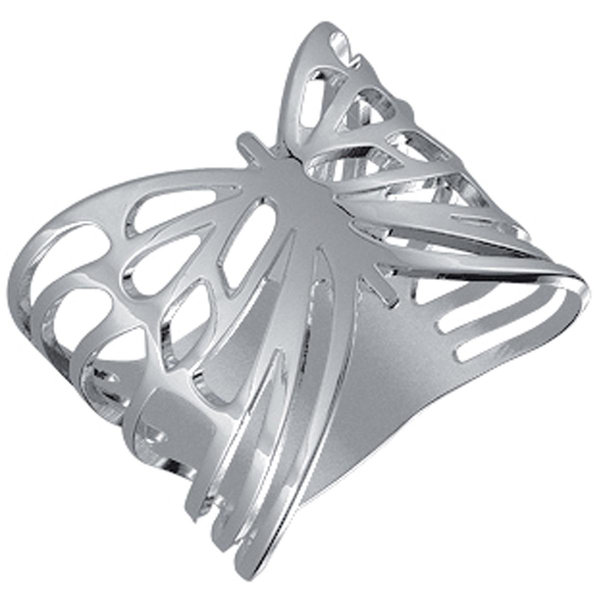 Bague \'Papillon\' plaqué argent - [L0624]