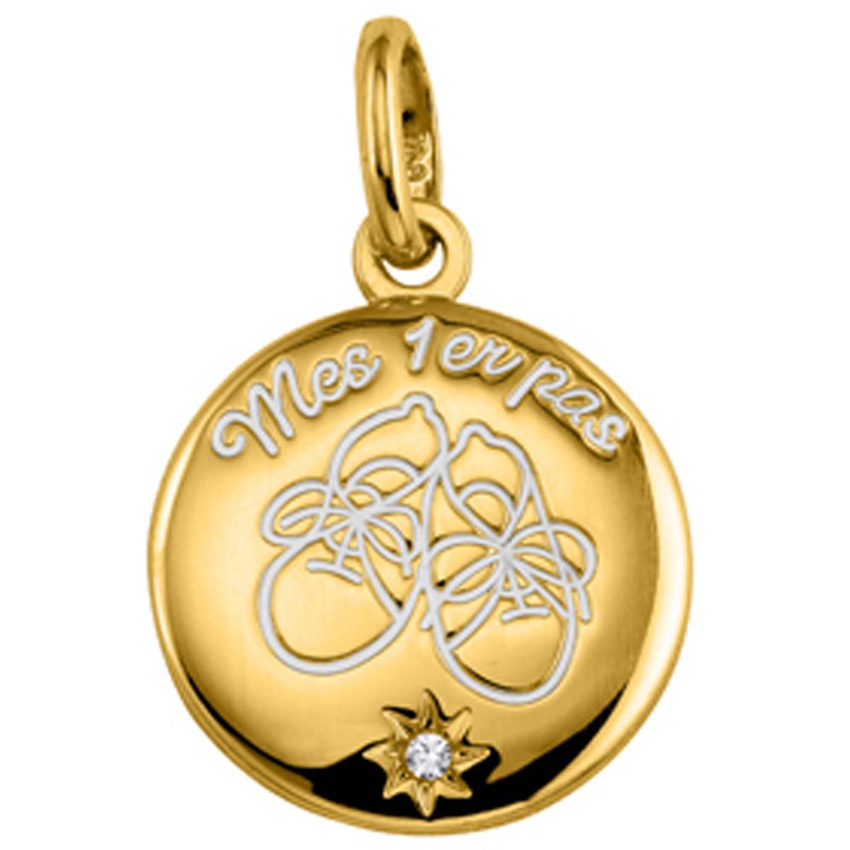 Médaille Plaqué Or \'Mes 1er pas\'  - [L0874]