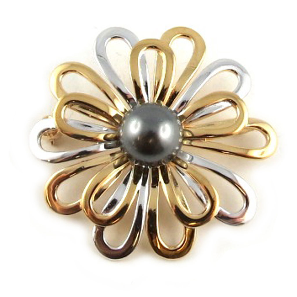 Broche Plaqué Or \'Sissi\' 2 tons - [L1675]