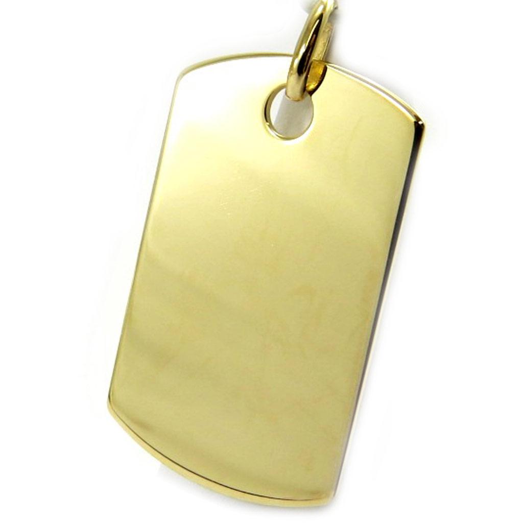 Médaille plaqué or \'Plaque Américaine\' (3x18 cm) - [L6131]