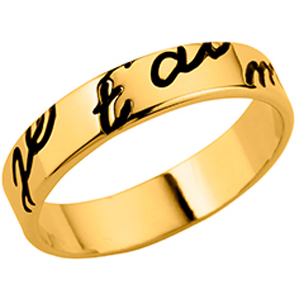 Alliance plaqué or \'Je T\'aime\'  - [M1158]
