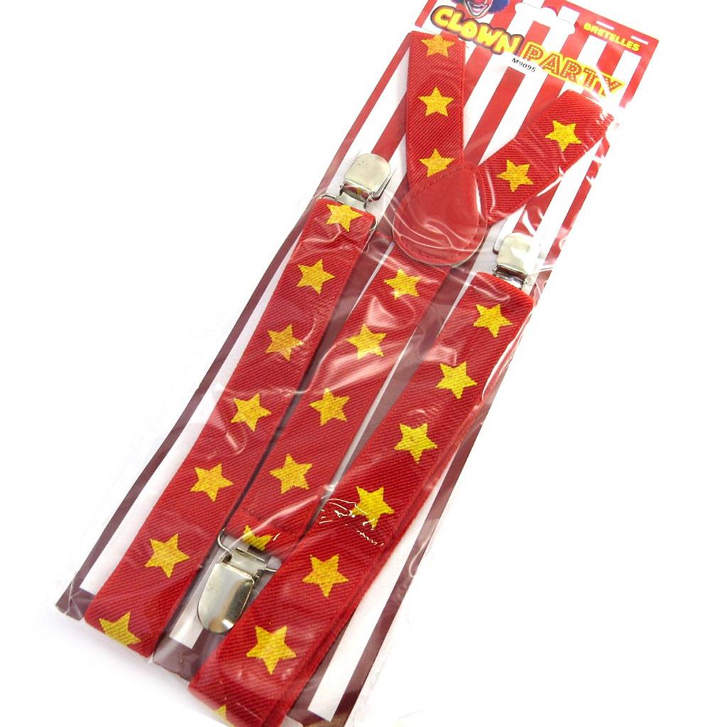 Bretelles \'Clown\' étoiles rouge jaune - [M9095]