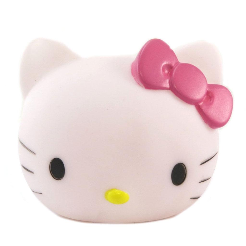 Lampe veilleuse 3D  \'Hello Kitty\' blanc rose - 11x10x95 cm - [P6483]