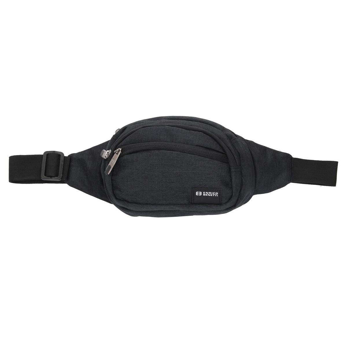 Pochette ceinture / banane \'Enrico Benetti\' noir - 21x145x9 cm - [Q1793]