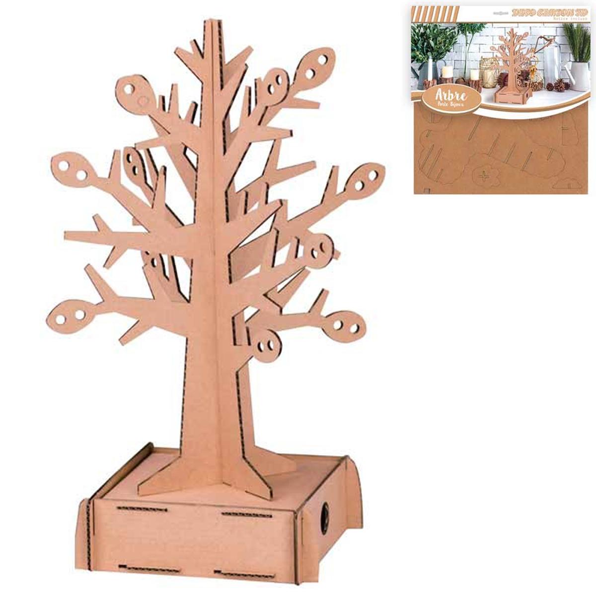 Figurine carton 3D \'Arbre de Vie\' porte-bijoux - planches 30x305 cm - [Q3138]