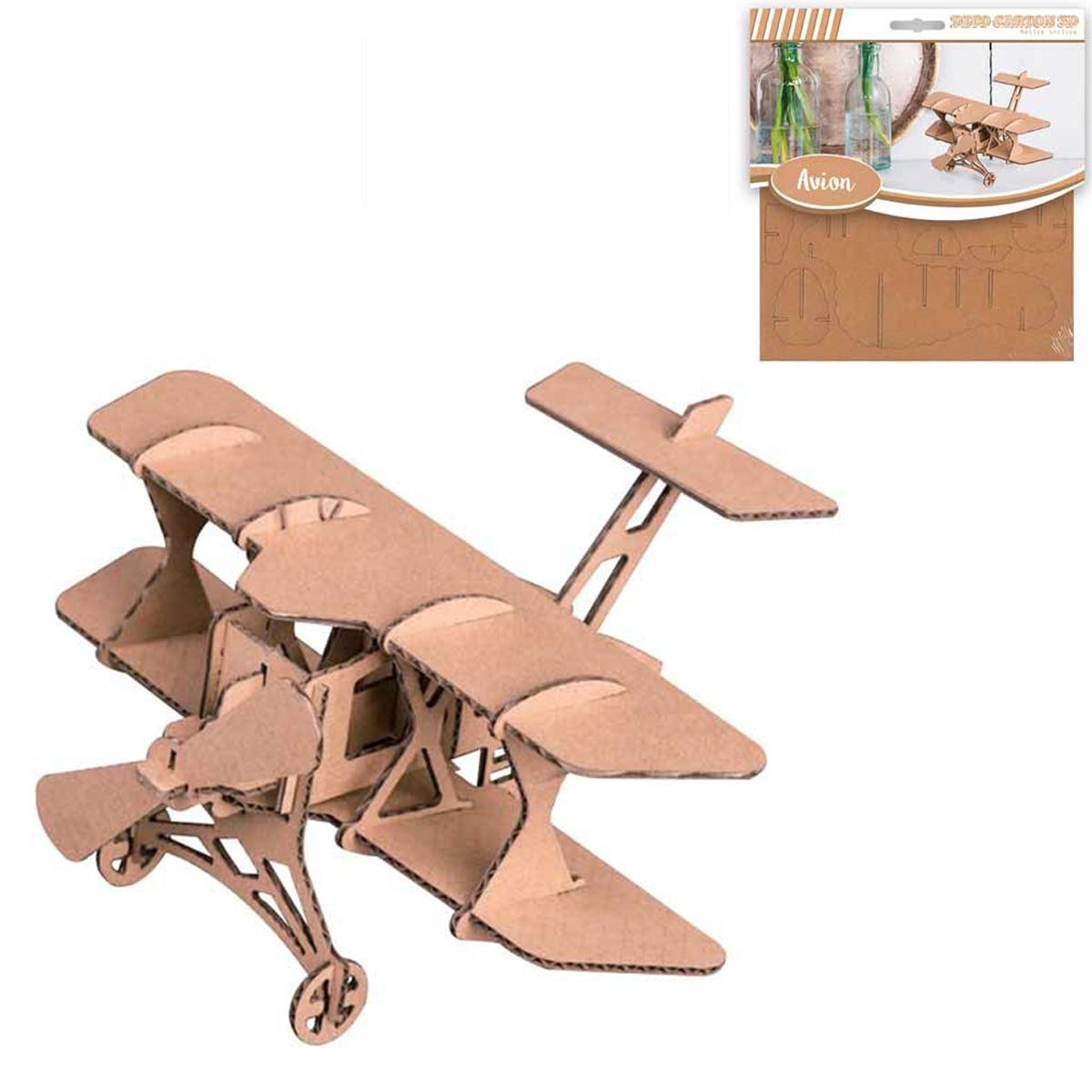 Figurine carton 3D \'Avion\' - planches 165x175 cm - [Q4559]