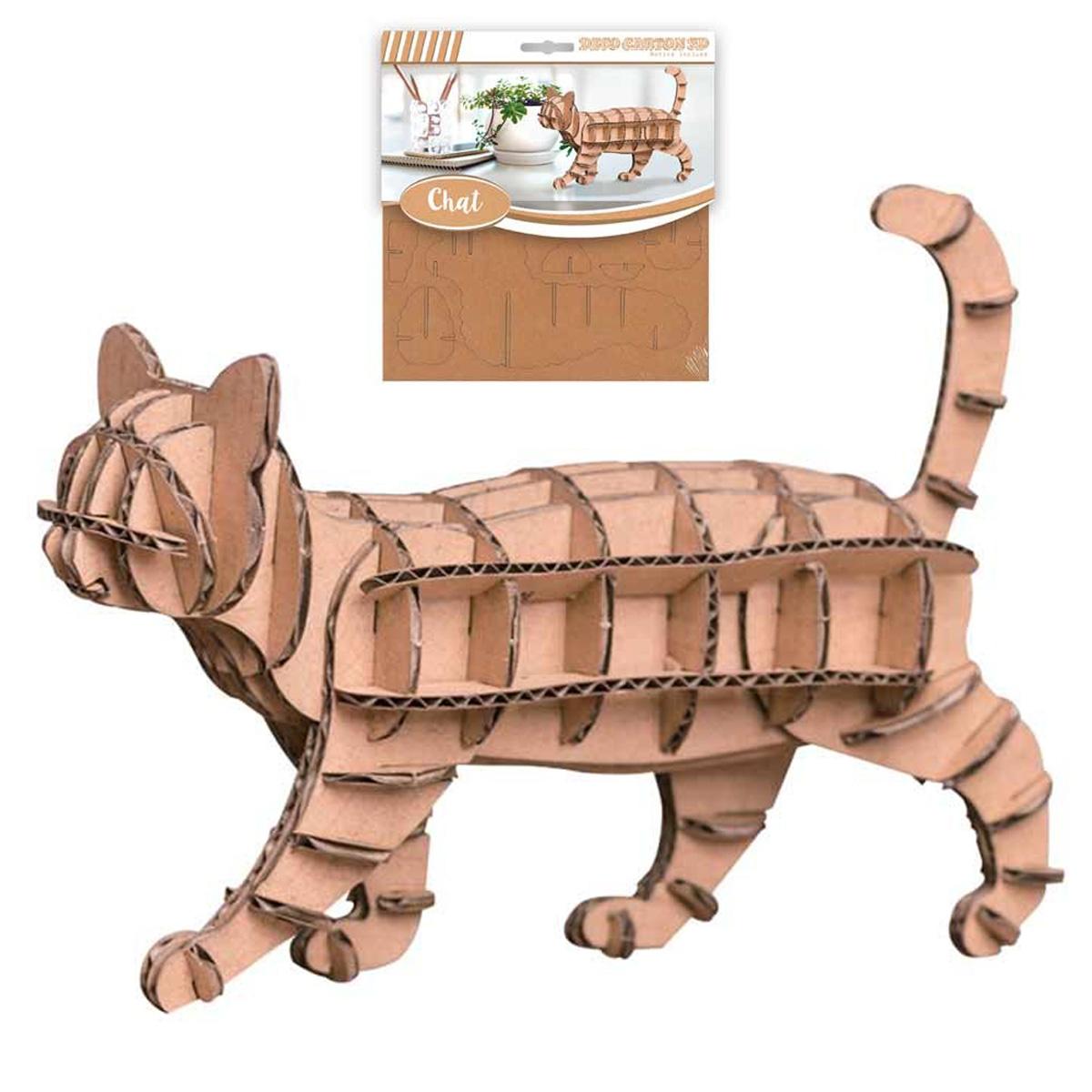 Figurine carton 3D \'Chat\' - planches 165x175 cm - [Q4561]