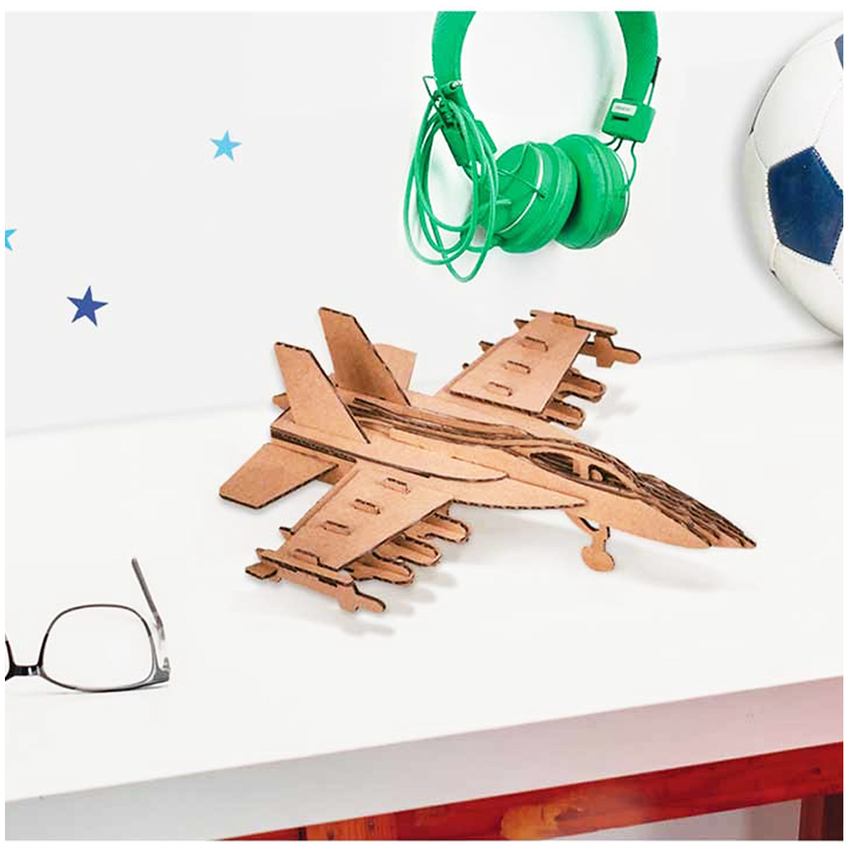 Figurine carton 3D \'Avion\' - planches 165x175 cm - [Q9228]