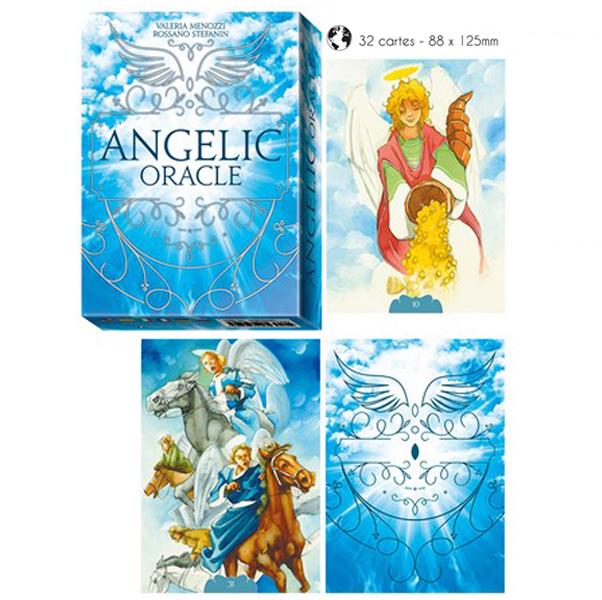 Jeu de cartes d\'inspiration \'Angelic Oracle\' (oracles) - 135x10x3 cm - [A1015]