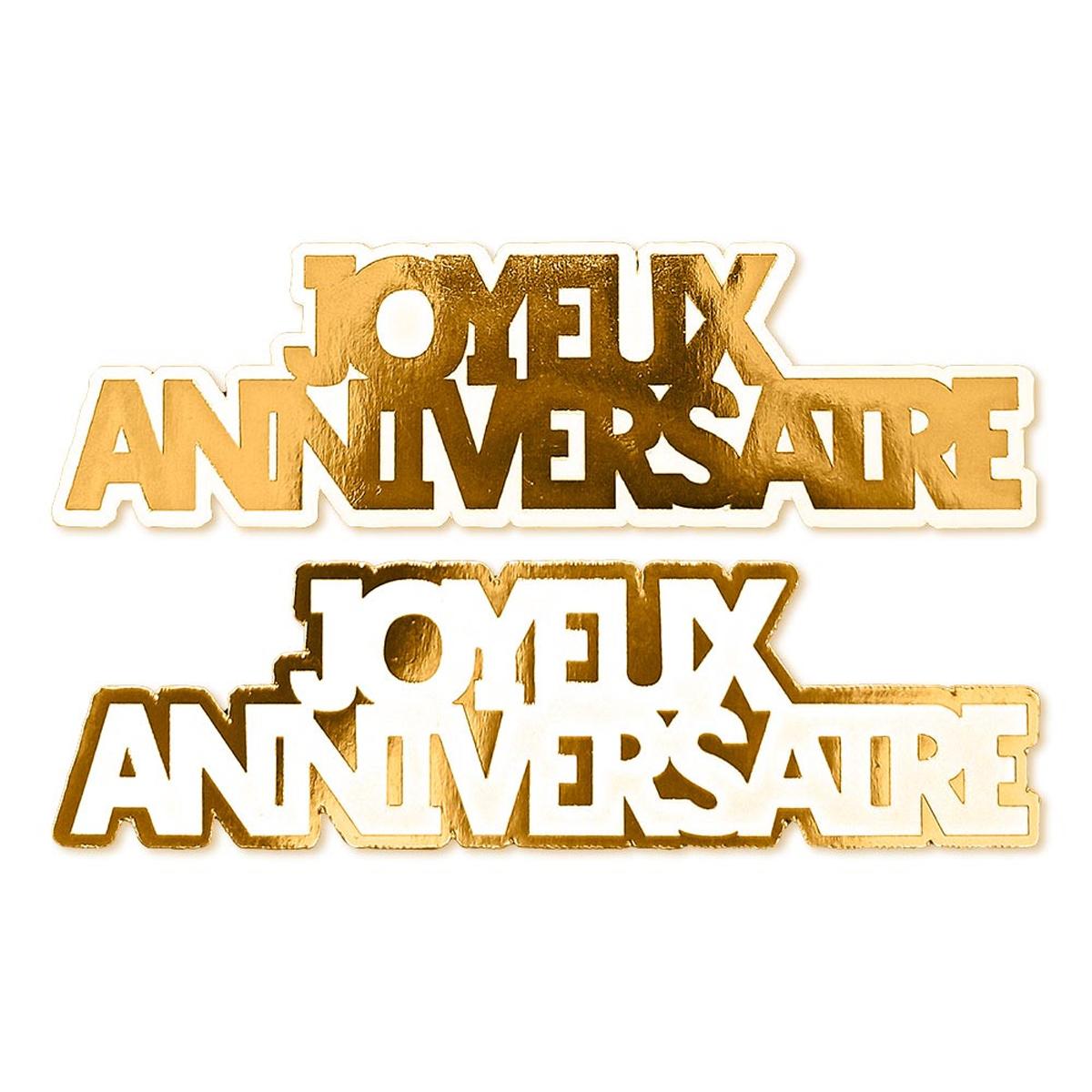 20 décors de table \'Joyeux Anniversaire\' doré - 12 cm (20 pièces) - [A2746]