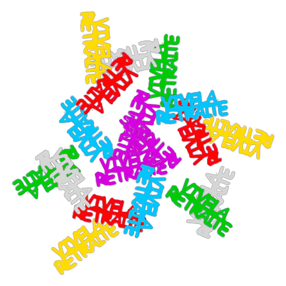 Sachet de confettis \'Vive la Retraite\' multicolore - 15 g - [A2754]