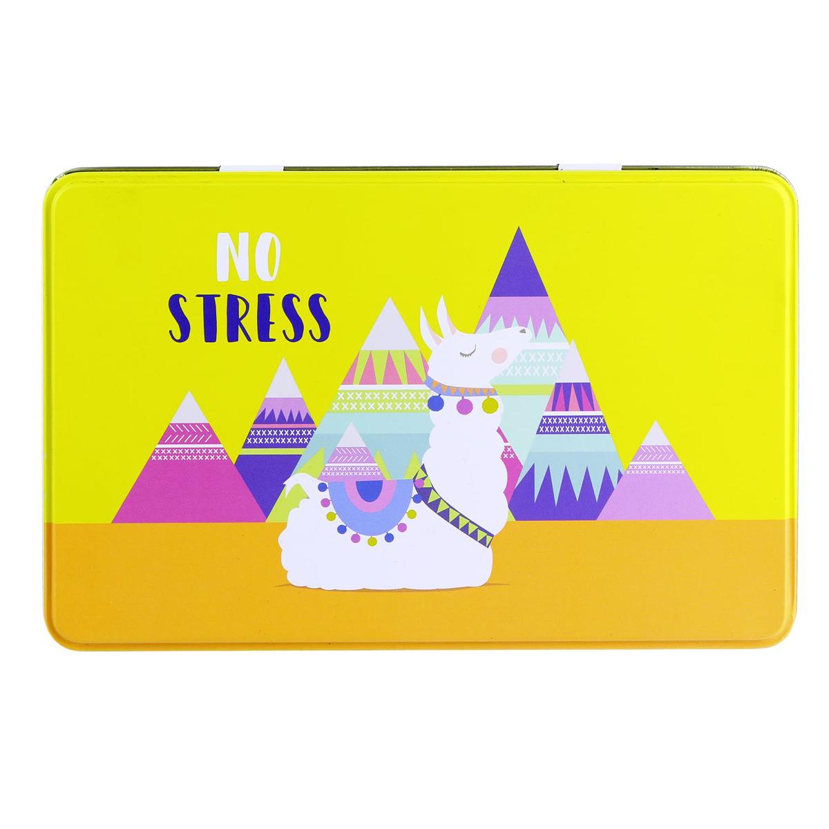 Boite à sucre \'Lama Mania\' jaune orange (No Stress) - 195x13x7 cm - [Q1149]