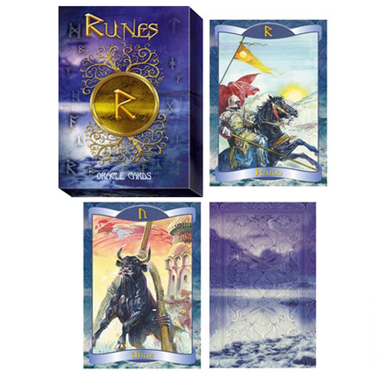 Jeu de cartes \'Runes\' multicolore - 125x88 cm - [R0463]