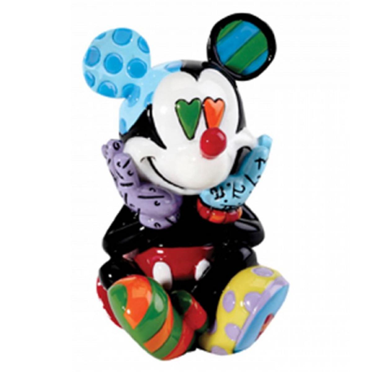 Figurine créateur \'Mickey\' multicolore amoureux (Britto) - 90x40 mm - [R2019]