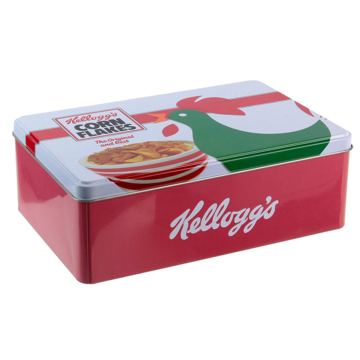 Boite à sucre \'Kellogg\'s\' rouge (corn flakes) - 195x13x7 cm - [R2433]