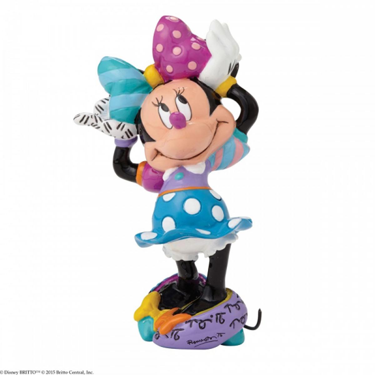 Figurine créateur \'Minnie\' multicolore (Britto) - 80x50x40 mm - [R2966]