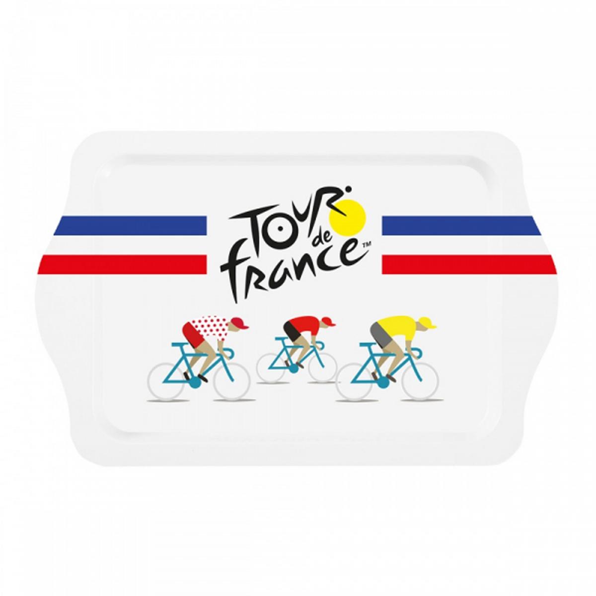 Petit plateau métal \'Tour de France\' bleu blanc rouge - 21x14 cm - [R2969]
