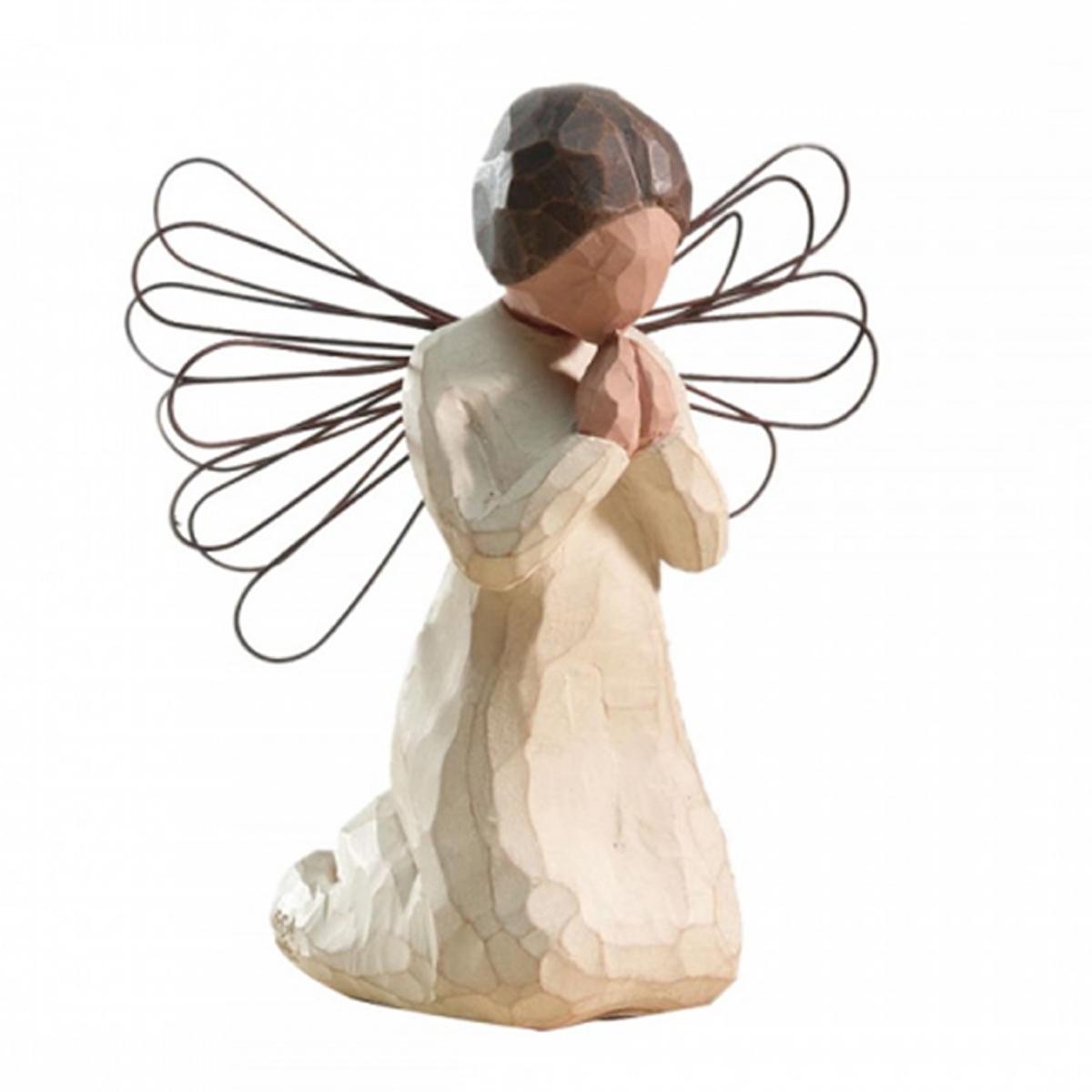 Figurine résine \'Willow Tree\' (ange gardien - prière) - 105x85x65 cm - [R2987]