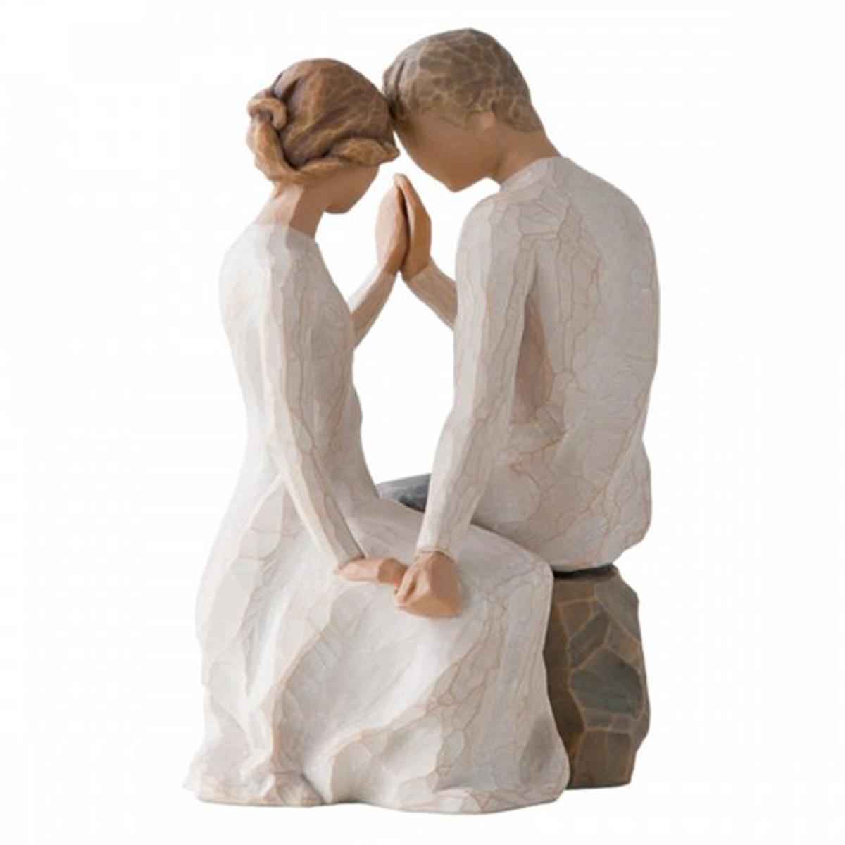 Figurine résine \'Willow Tree\' (Love - couple dans sa bulle de grâce) - 165x125x10 cm - [R2992]