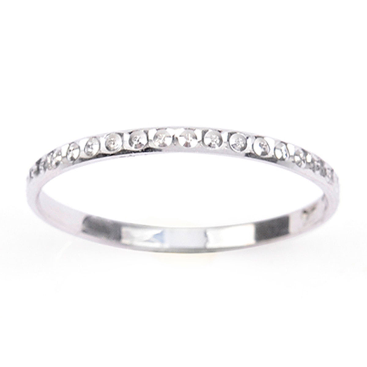 Alliance Argent \'Lien d\'Amour\' argenté (rhodié) - 2 mm (diamanté) - [R5057]