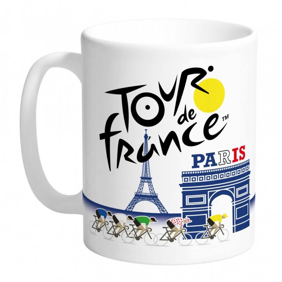Mug céramique \'Tour de France\' bleu blanc rouge - 95x80 mm - [A0858]