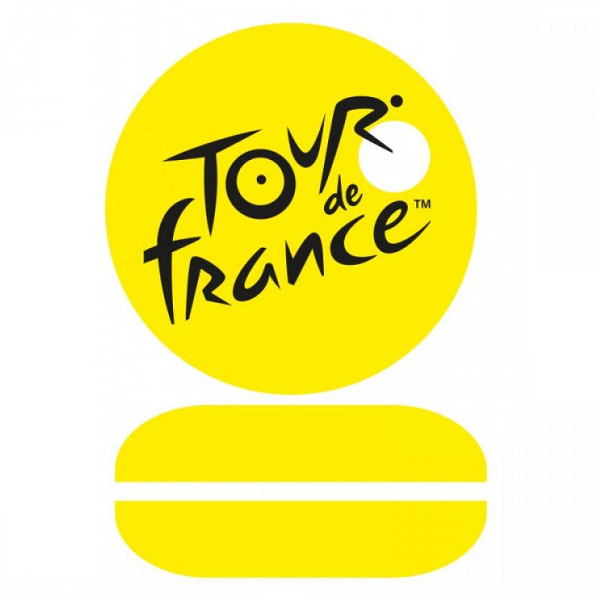 Sonnette à vélo métal \'Tour de France\' jaune - 6 cm - [A2805]