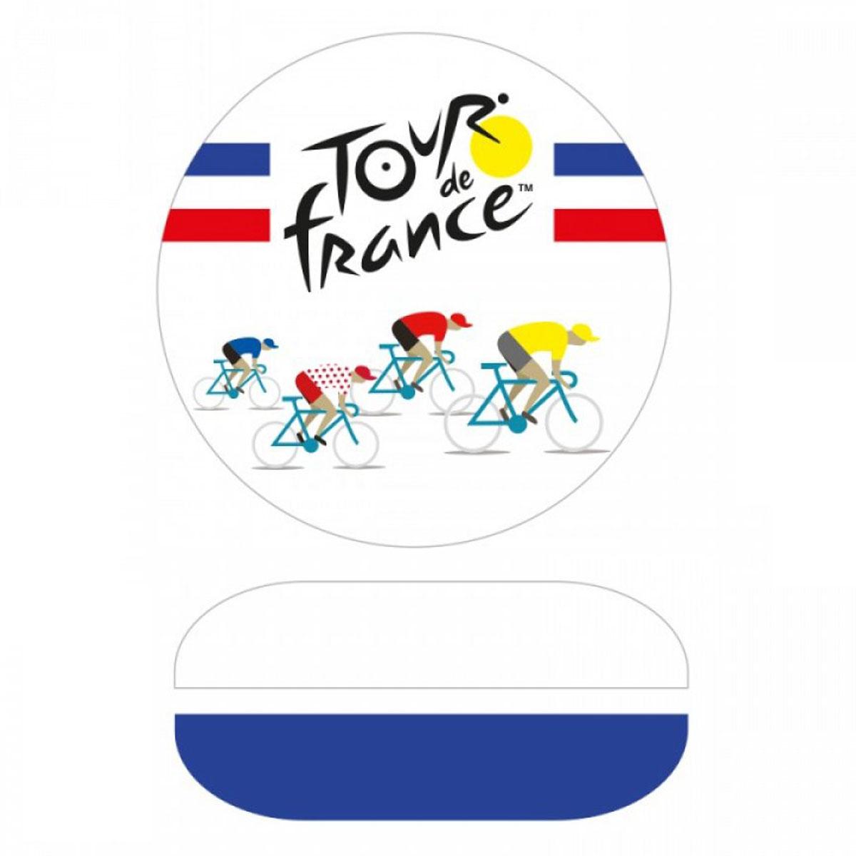 Sonnette à vélo métal \'Tour de France\' bleu blanc rouge - 6 cm - [A2806]