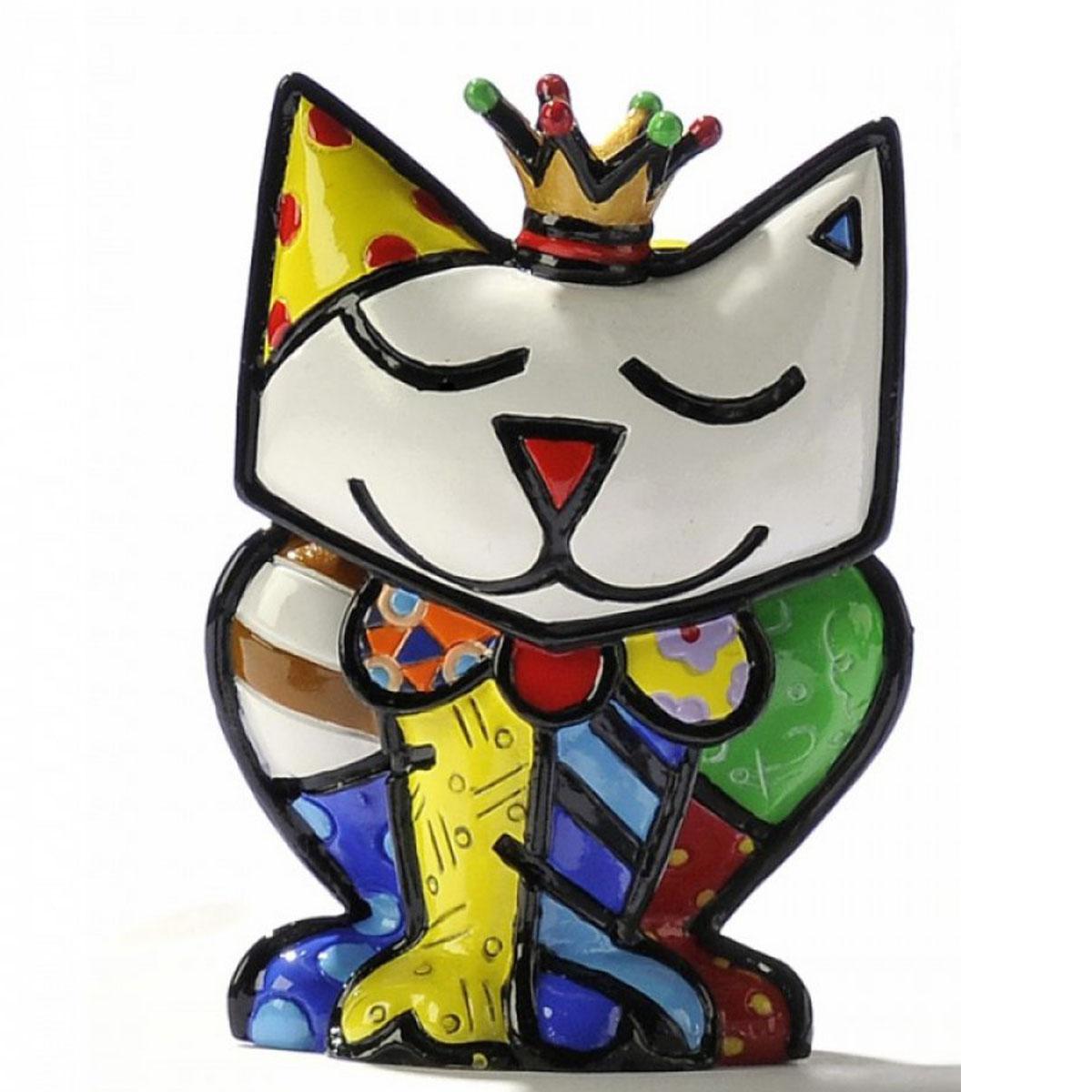 Figurine créateur \'Britto\' multicolore (chat princesse) - 65 mm - [A2826]