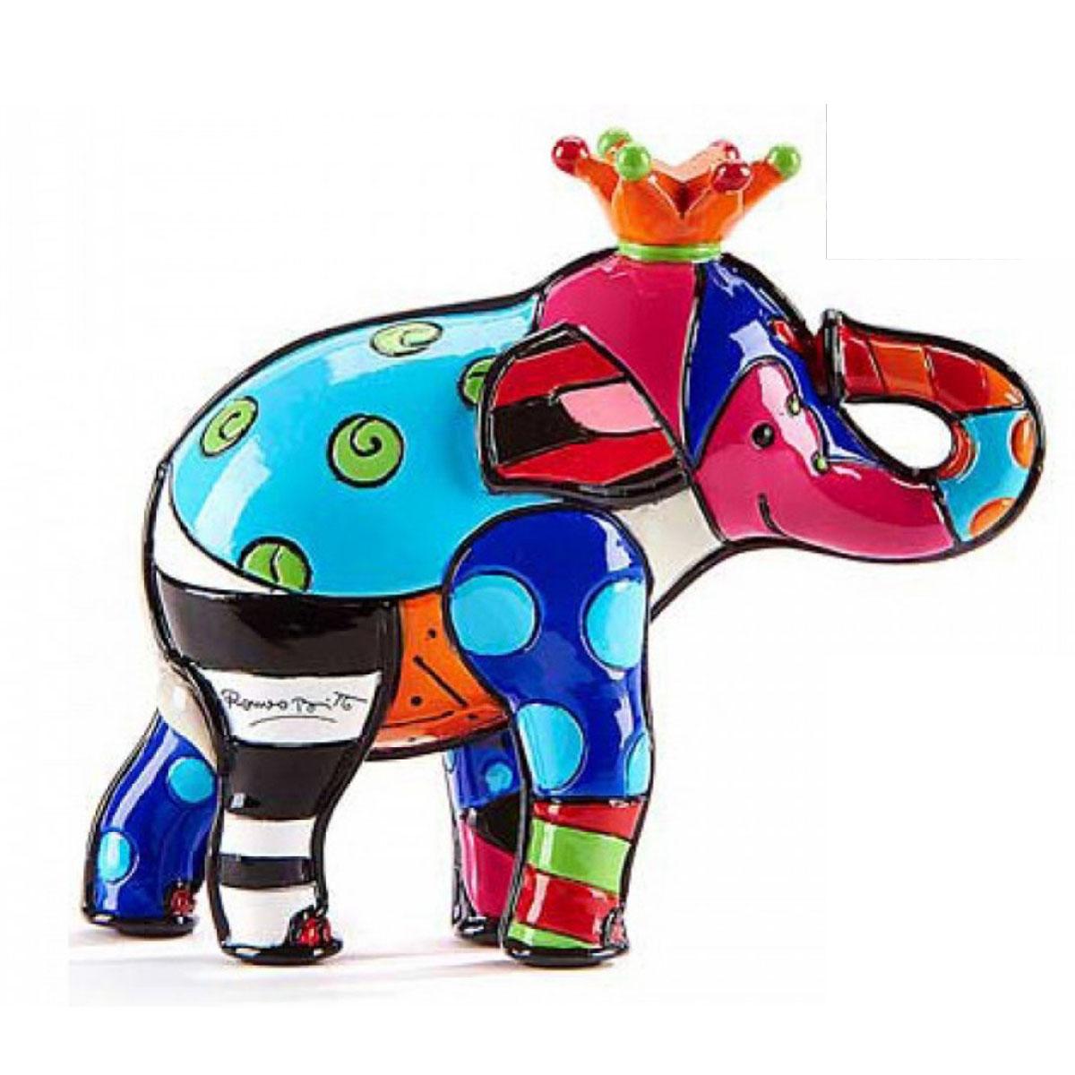 Figurine créateur \'Britto\' multicolore (éléphant) - 70 mm - [A2827]