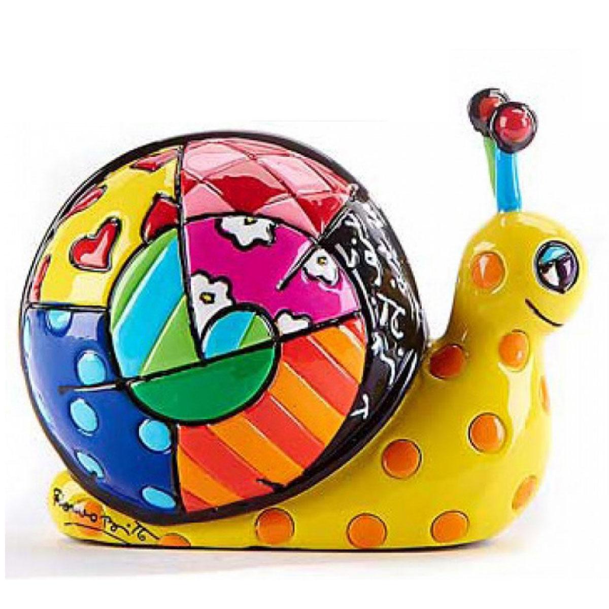 Figurine créateur \'Britto\' multicolore (escargot) - 65 mm - [A2828]