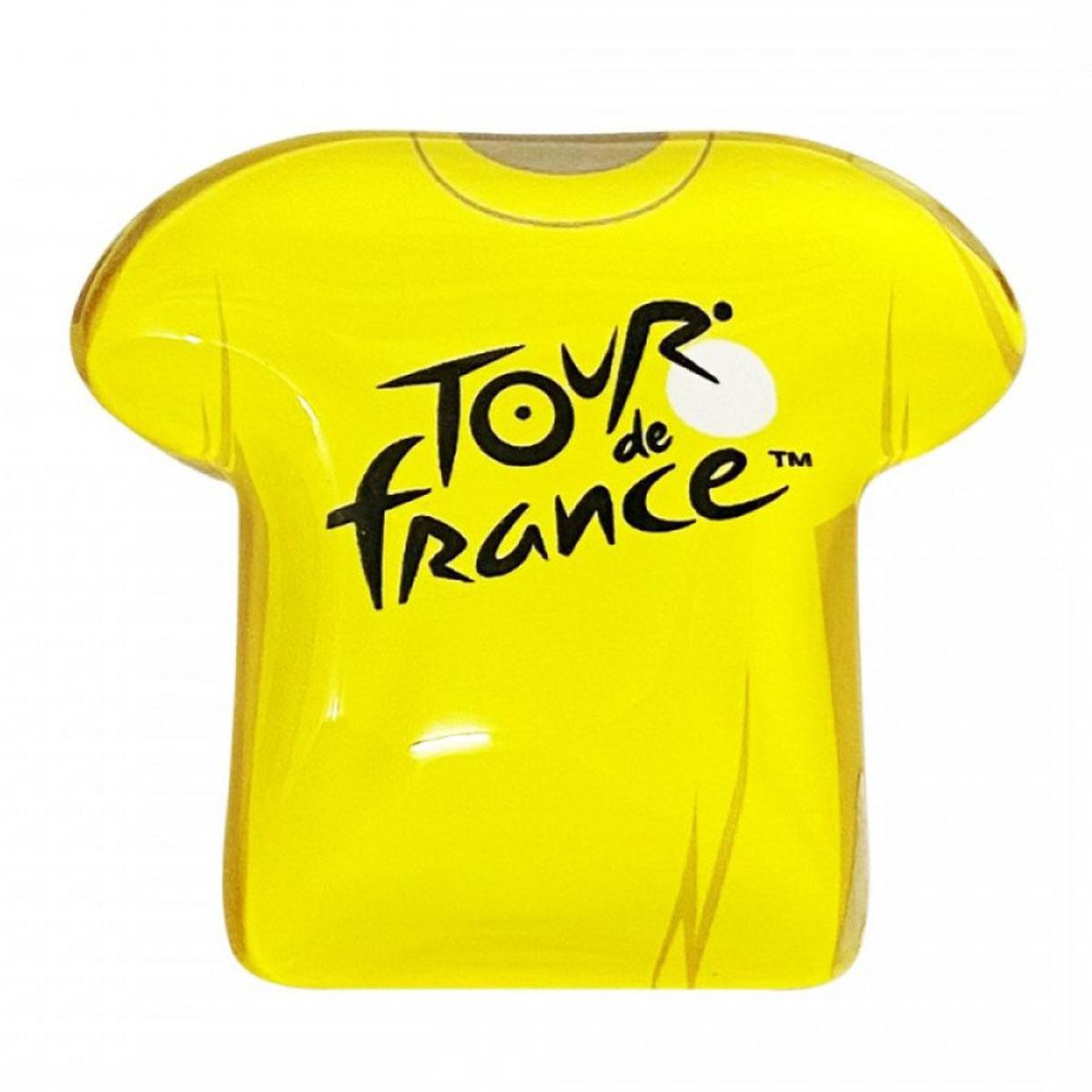 Magnet verre \'Tour de France\' maillot jaune - 55x50 mm - [A2838]