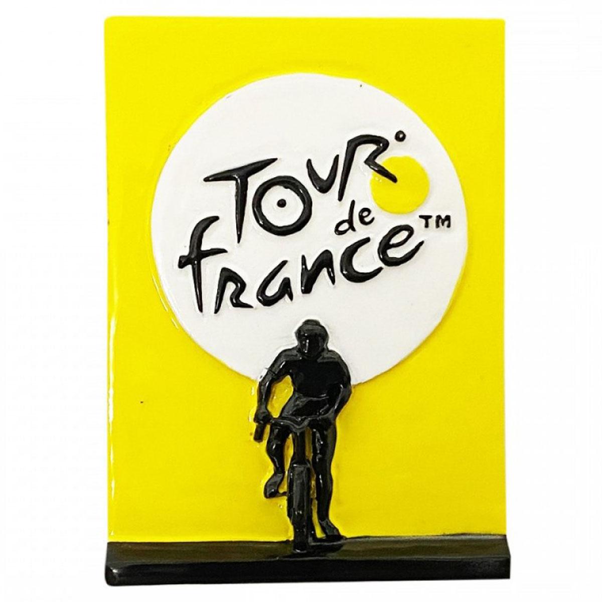 Magnet résine \'Tour de France\' jaune noir - 7x5 cm - [A2839]