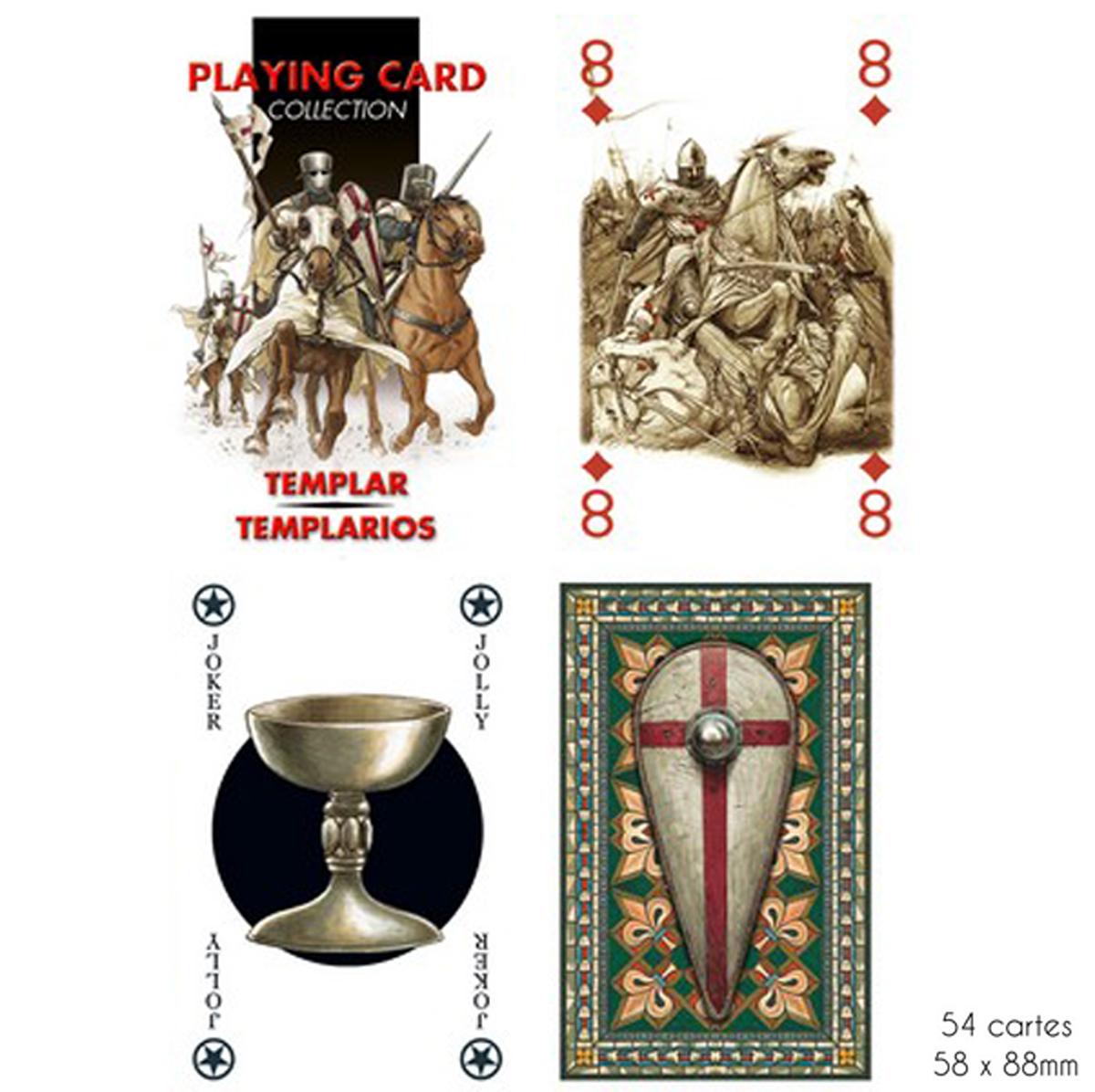 Jeu de cartes Créateur \'Templiers\' - 9x6x2 cm - [A2856]