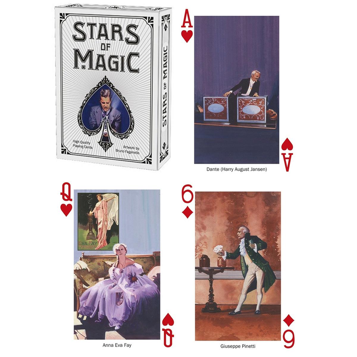Jeu de cartes Créateur \'Stars of Magic\' - 9x6x2 cm - [A2857]