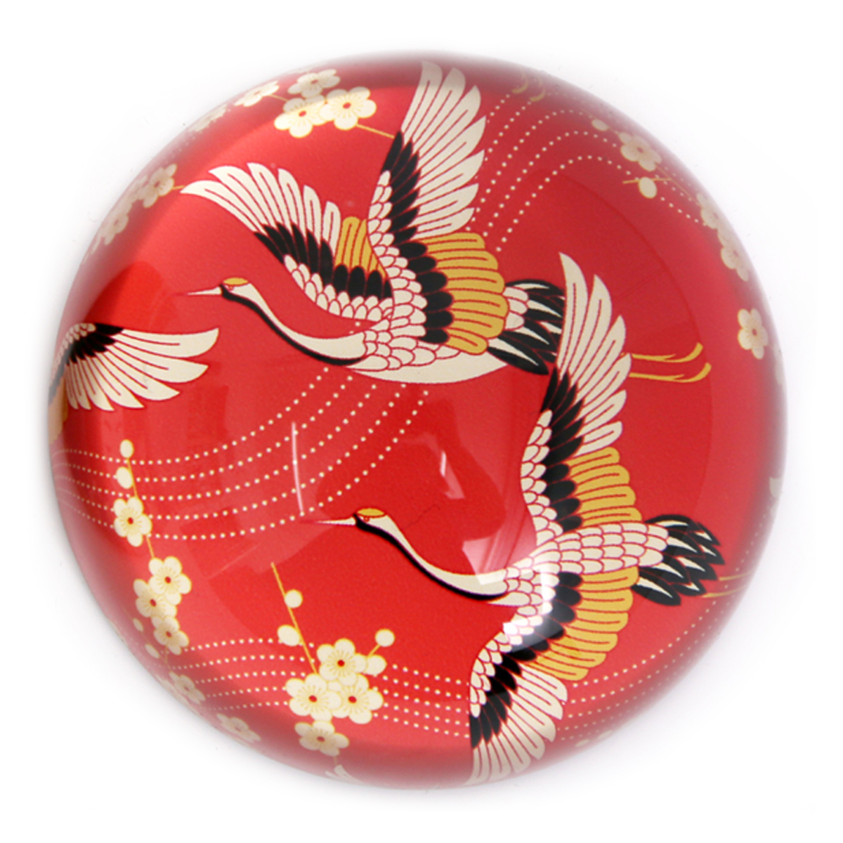 Presse papier verre \'Geisha\' rouge - 78x40 mm - [A2909]
