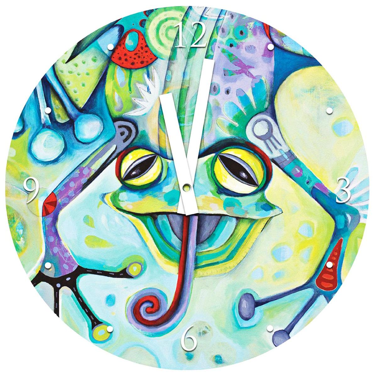Horloge Murale verre \'Allen Designs\' grenouille (30 cm) - [M3795]