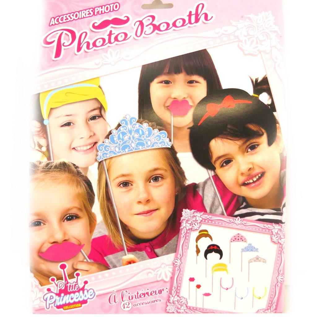 Accessoires photobooth enfant \'Princesses\' - 12 pièces - [M5249]