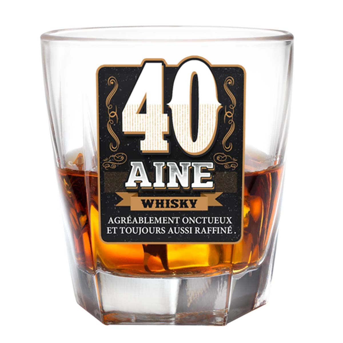 Verre à whisky \'40 ans\'  - [P2703]
