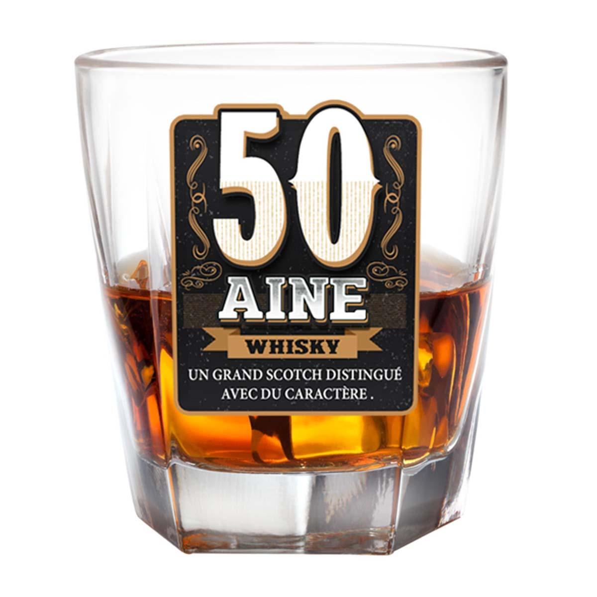Verre à whisky \'50 ans\'  - [P2704]