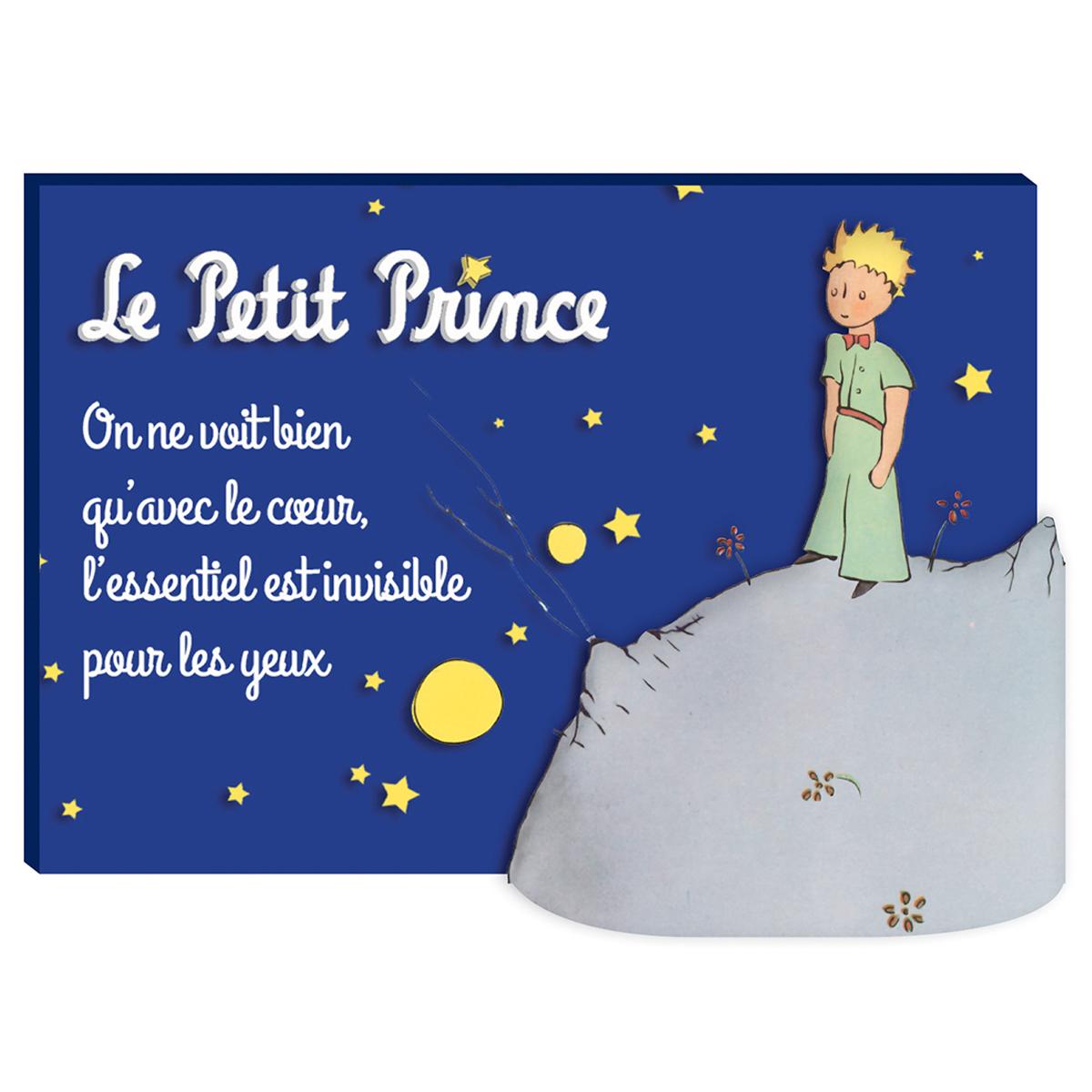 Magnet résine \'Le Petit Prince\' bleu (nuit étoilée) - 7x5 cm - [Q9025]