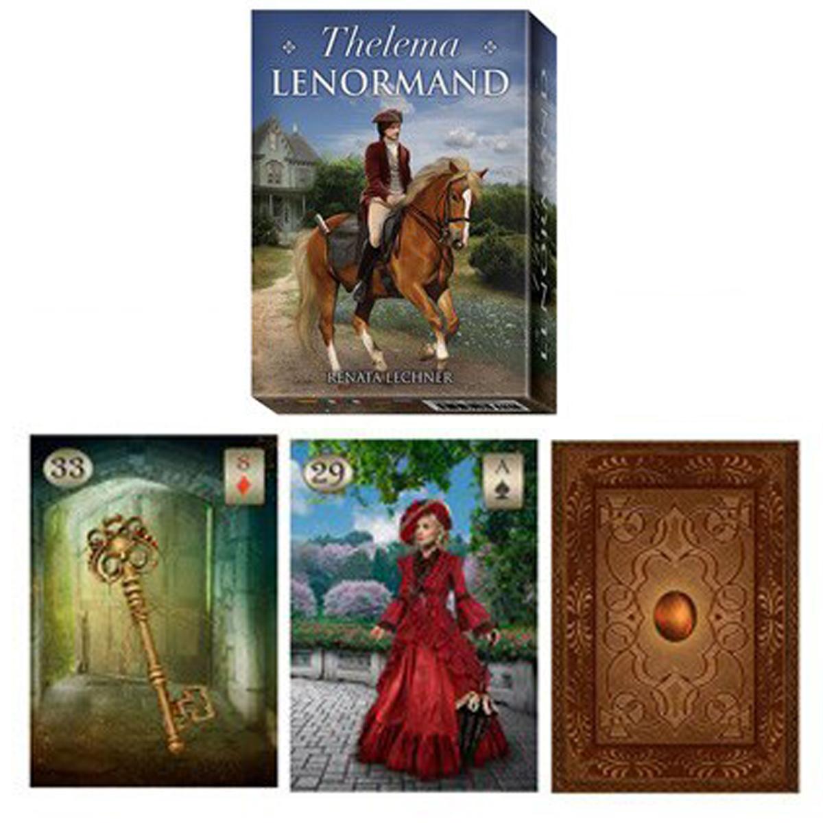 Jeu de cartes \'Thelema Lenormand\' multicolore (oracles) - 135x10x3 cm - [R1476]