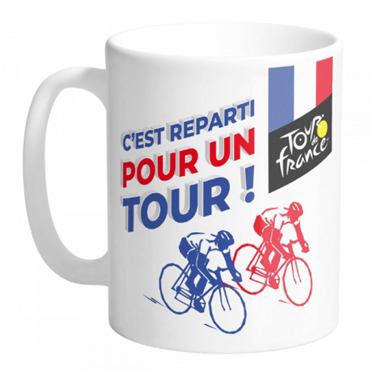 Mug céramique \'Tour de France\' (C\'est reparti pour un Tour !) - 95x80 mm - [R1745]